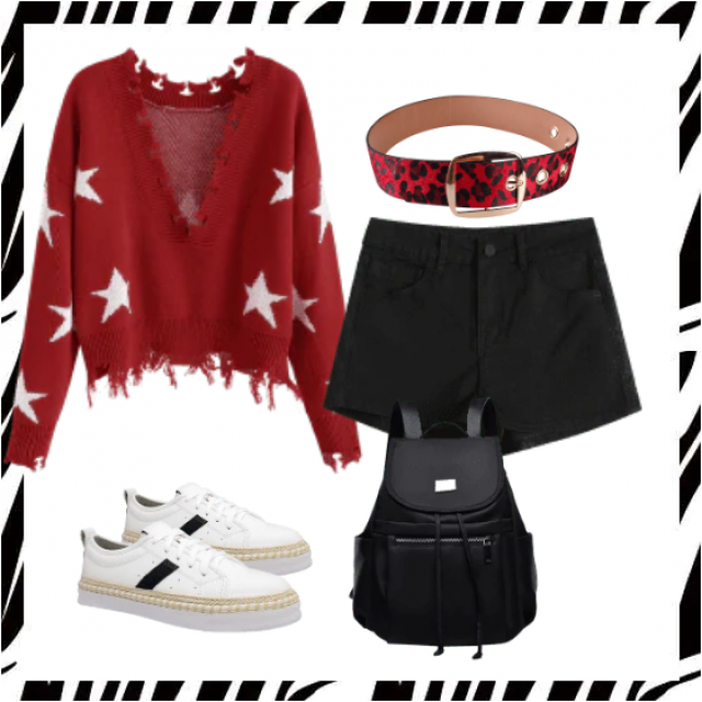 Buy here,trendy sweater and shorts,online shop,in ZAFUL!!!