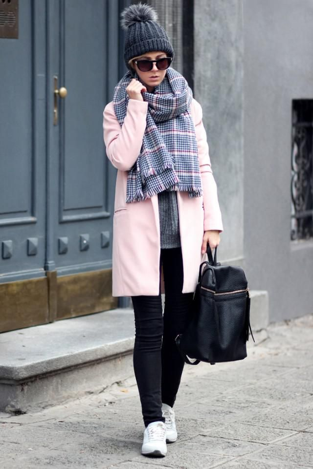 Black Jeans And Sneakers Pink coat and black jeans with sneakers ,buy here,only in ZAFUL!!!