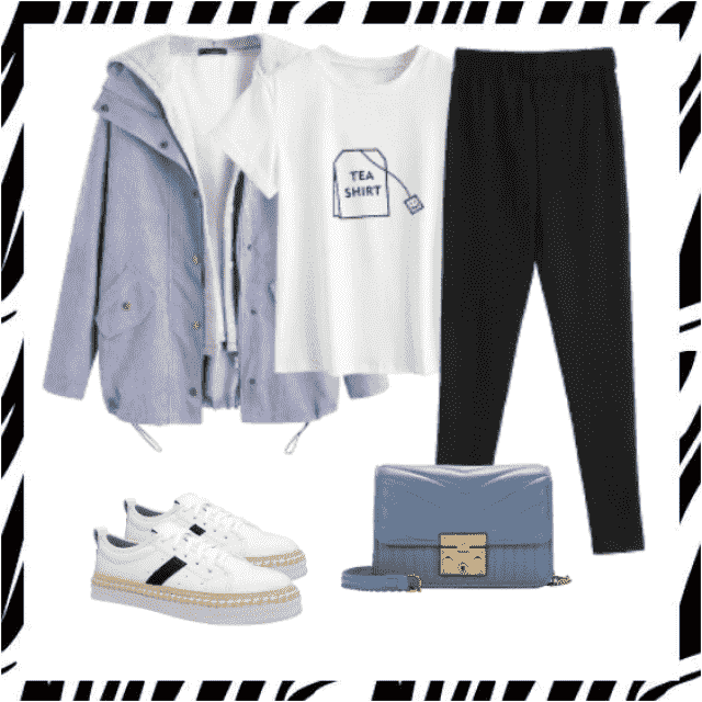 Casual look ,black pants with t-shirt and jacket,buy here,online shop! Look here:https://m.zaful.com/join-commission/m…