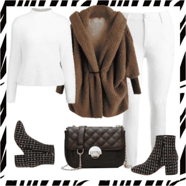 Nice white jeans and brown coat for autumn. Look here:https://m.zaful.com/join-commission/me.html?uid=MTEzMjExMjk=   …
