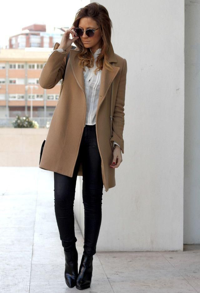 Drawstring Waist Trench Coat - Brown