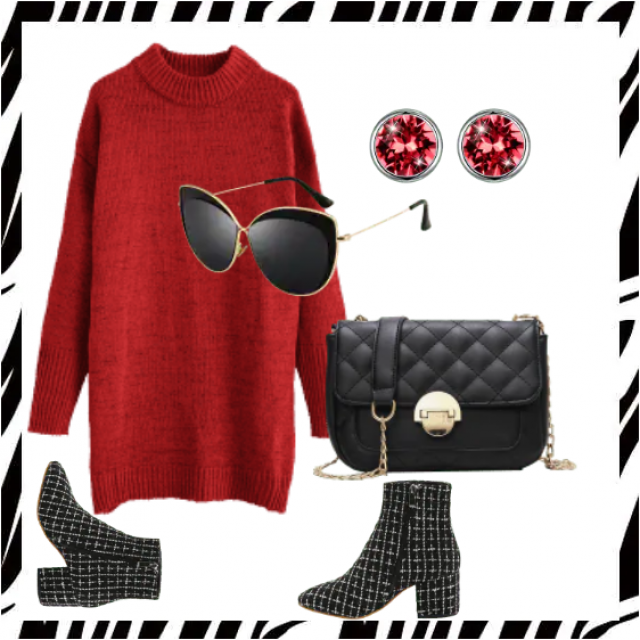 Beautiful red sweater dress ,buy here,online shop!!! Look here:https://m.zaful.com/join-commission/me.html?uid=MTEzMjE…