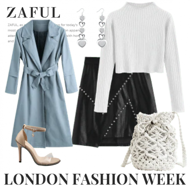 So elegant style,coat with leather skirt and sweater ,buy here,online shop!!!