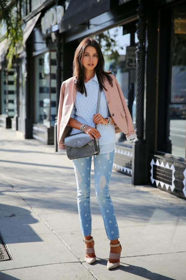 Drop Shoulder Chunky Knit Sweater Light Blue Pastel colors, jeans and sweater light blue for autumn.Here buy,in ZAFUL!…