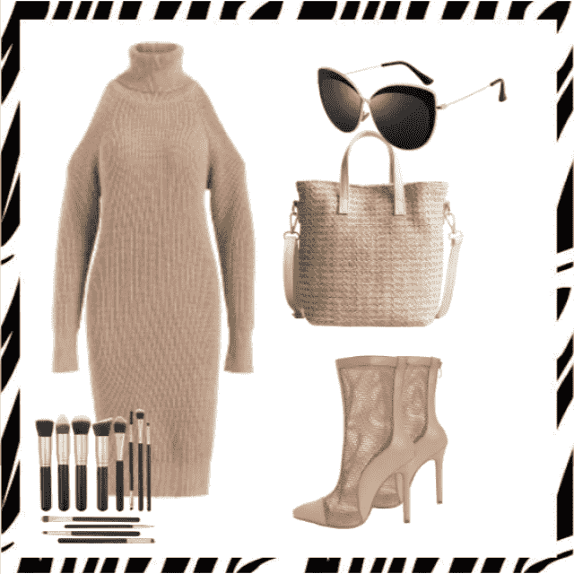 Sweater dress and bag ,buy here!