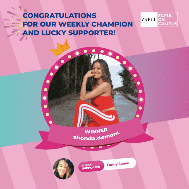 Congratulations to our Second Weekly Champion@shonda.demont and lucky supporter @Fanny Sauve. Weekly champion can wi…