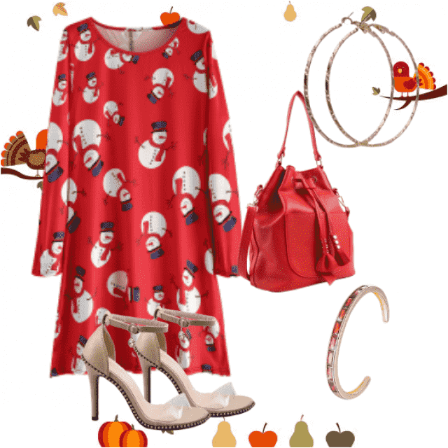 New Year's holidays are approaching, beautiful snowman print christmas dress for festive occasions,buy here,best of  ZA…