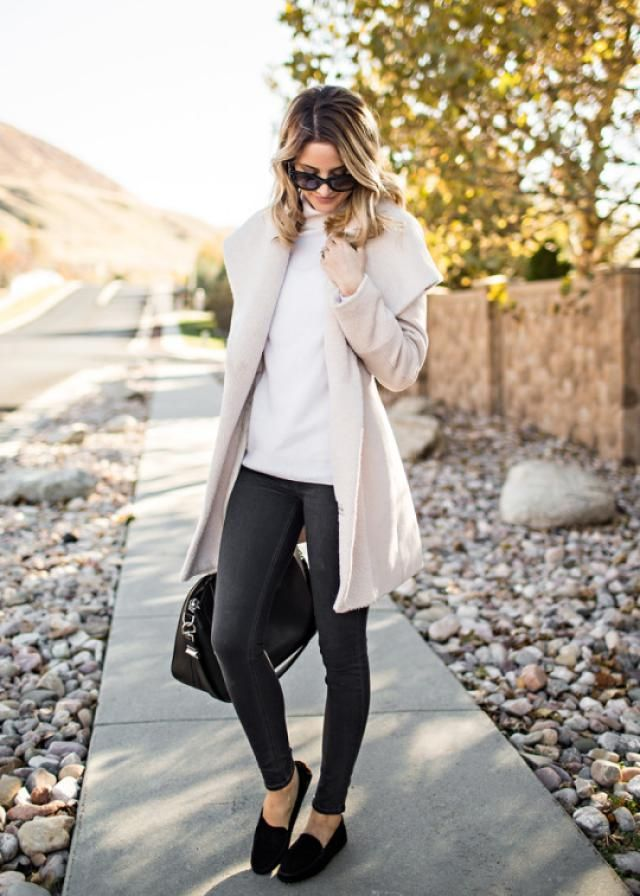 Winter Coat And Sweater Beige 