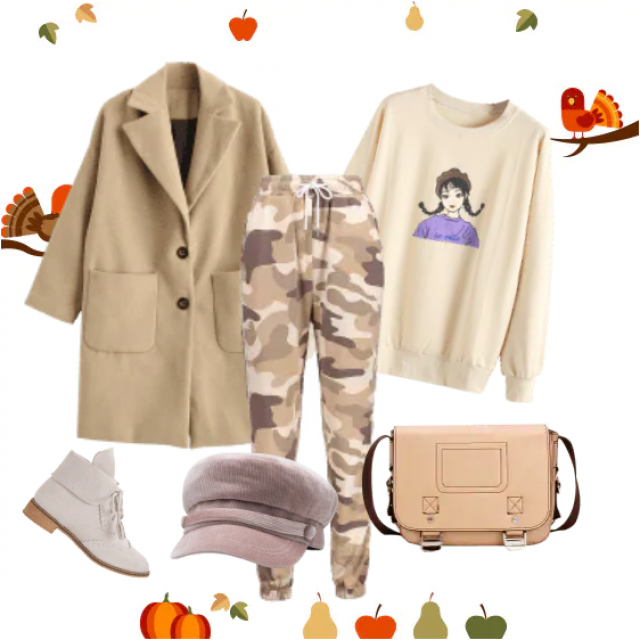 Trendy classic coat can be worn for any occasion, its beige color fits with each piece of clothing