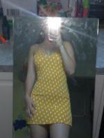daaa767c75eba 41% OFF] 2019 Smocked Polka Dot Mini Dress In BRIGHT YELLOW | ZAFUL