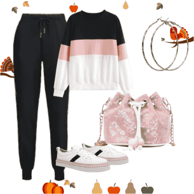 The jogging pants are sure to become your go-to everyday trousers.Jogging pants and striped sweater with bag ,buy here,…
