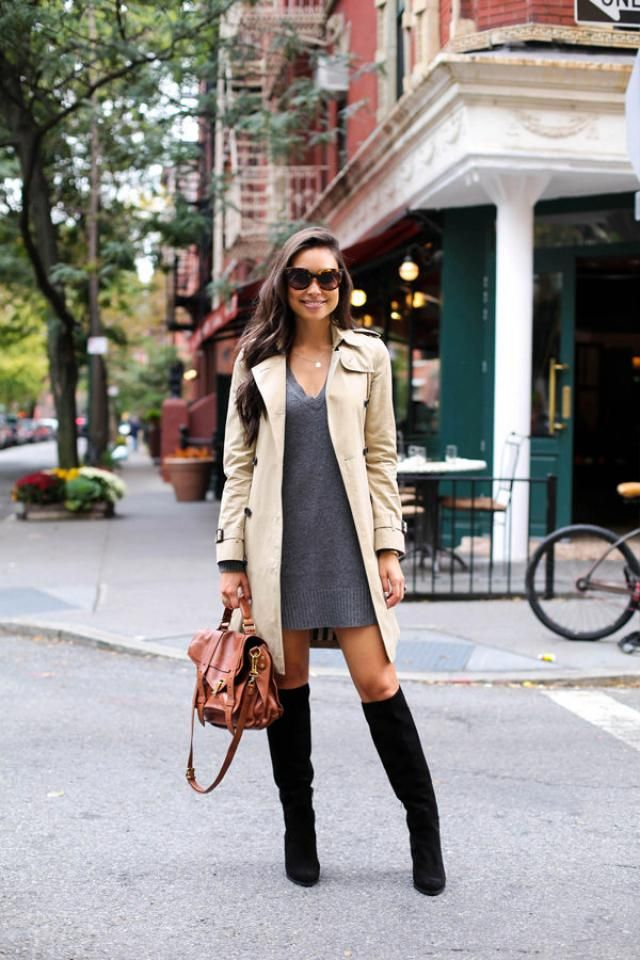 Trench Coat  Nice trench coat and sweater with boots ,buy here,best of ZAFUL!!!  Look-https://m.zaful.com/join-commis…