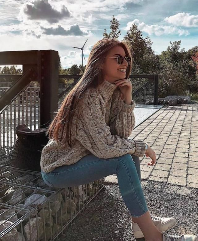 Turtleneck Chunky Cable Knit Sweater  Tan