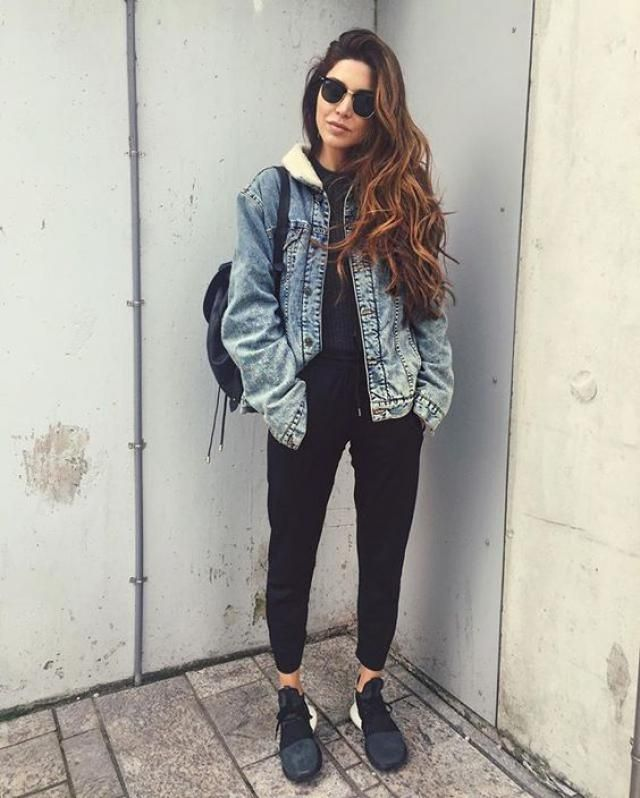Negin Mirsalehi have the best outfits always!! I love her style, so i found the same denim jacket that she have! it's s…