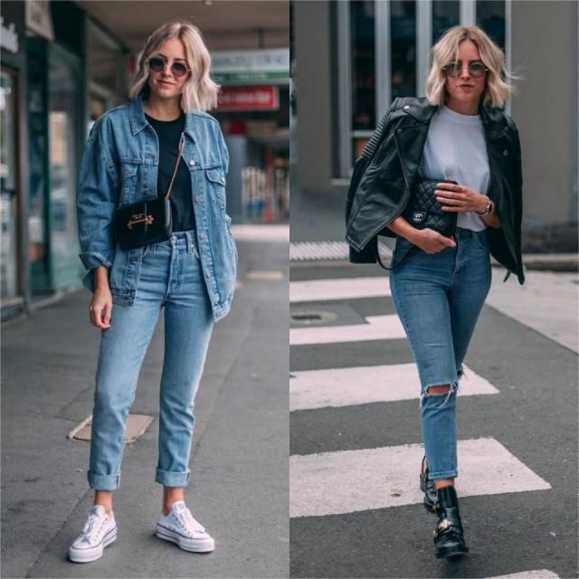 Are you a fan of denim jackets or faux leather jackets? tell me your favorite outfit