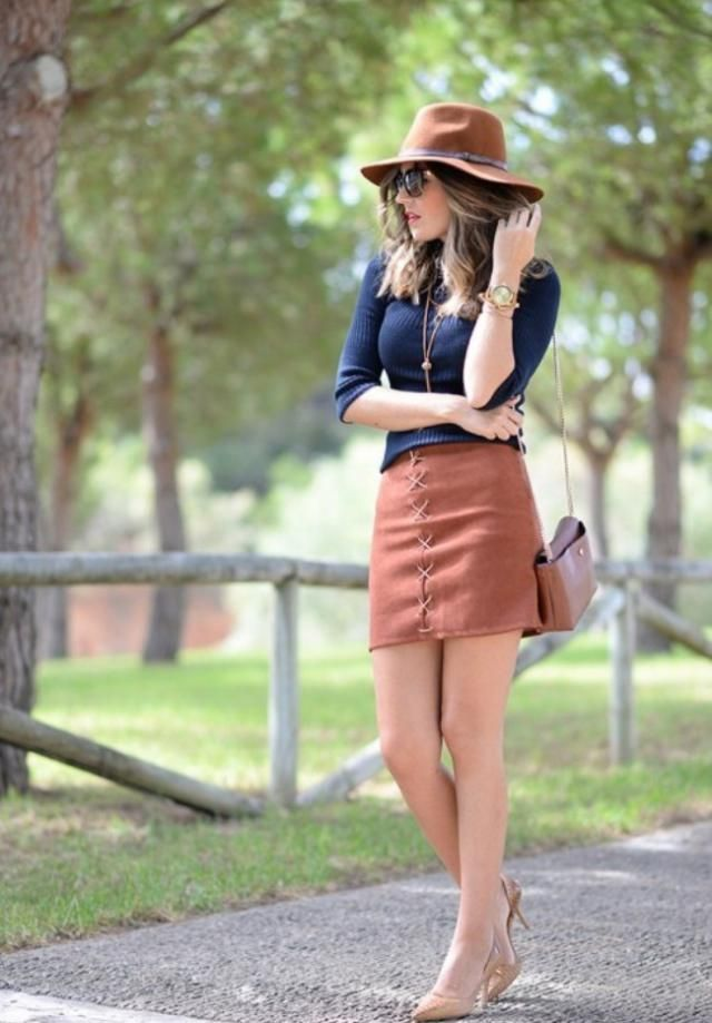Patch Pocket Lace Up Mini Skirt