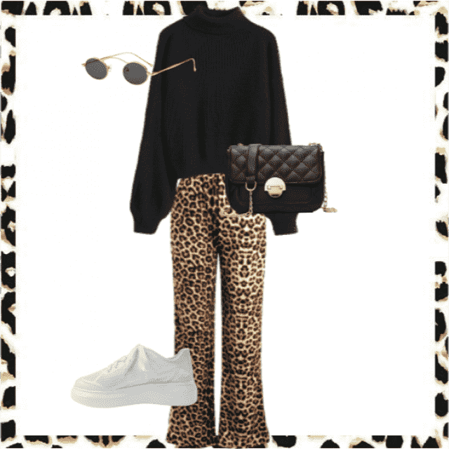 Flared panter jeans combined with a black sweater makes you an casual but classy outfit. You could rock it at school an…