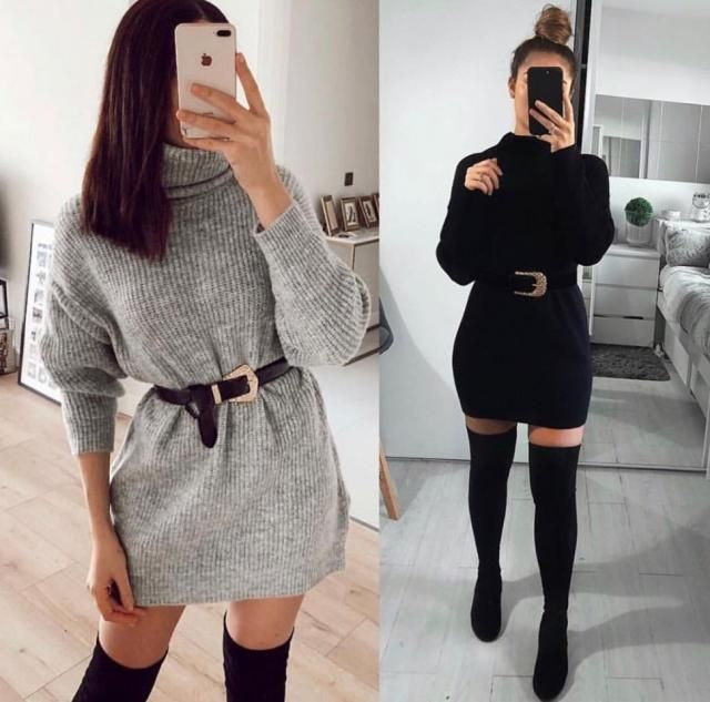 Which one outfit do you like more gray or black?
