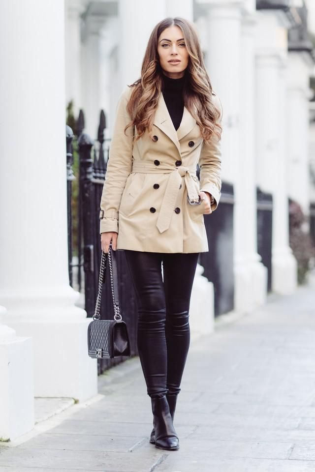 Lapel Double Breasted Trench Coat