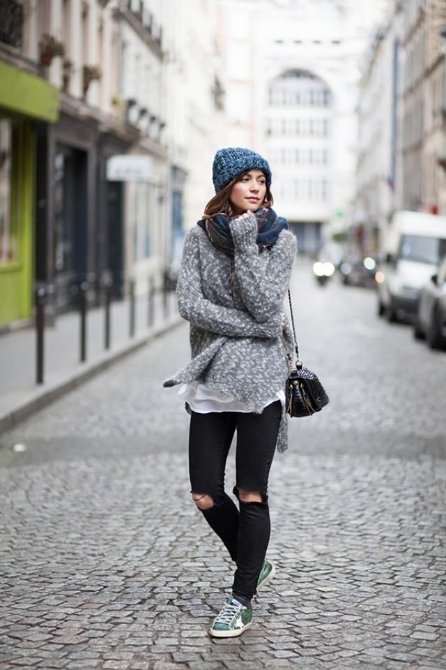 Oversized Heather Sweater Gray