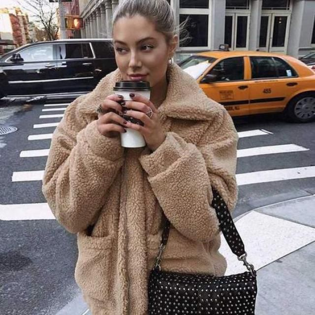Zip Up Loose Faux Fur Coat Warm winter coat, great quality and low price. BUY IN ZAFUL !!!