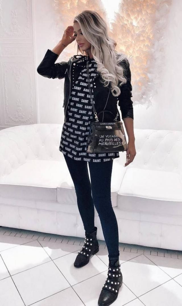 Front Tie Faux Pearl Accent Ankle Boots Black