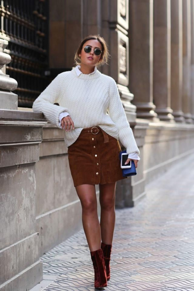 Button Up Corduroy Mini A Line Skirt Top skirt and sweater,BUY HERE! Best of ZAFUL!!!