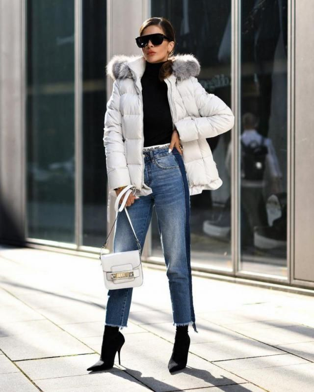 Zipped Quilted Puffer Winter Coat  White Perfect winter coat and jeans with sweater,BUY HERE! ZAFUL IS THE BEST!!!   …