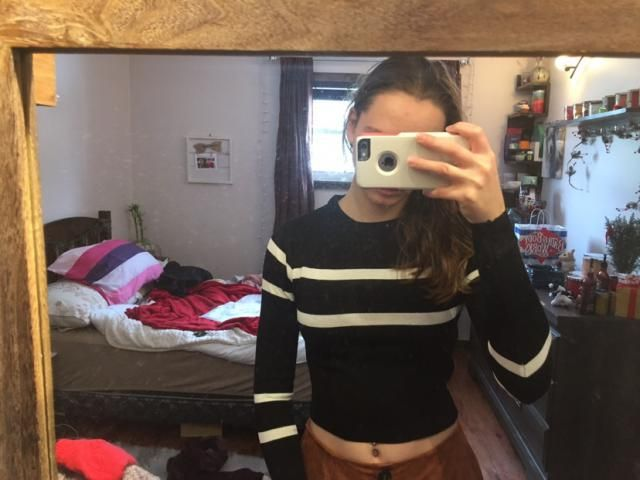 Super cute but a little more cropped than expected. Still fits well and the material is super soft