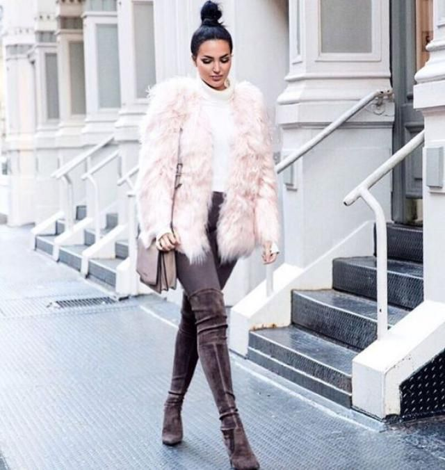 Open Front Fluffy Faux Fur Winter Coat