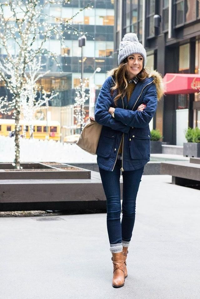 Faux Fur Lined Winter Parka Coat Blue  Winter outfit,coat and hat , buy here ,online shop!