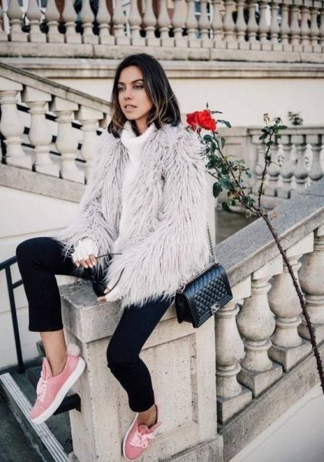 Fluffy Faux Fur Short Winter Coat