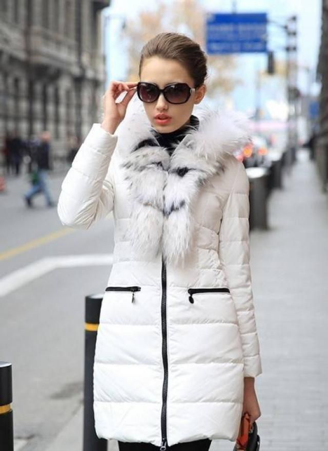 Zipped Quilted Puffer Winter Coat
