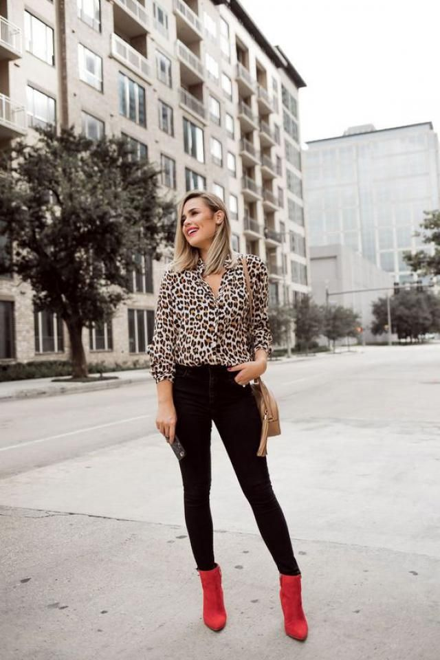 Button Up Leopard Longline Shirt
