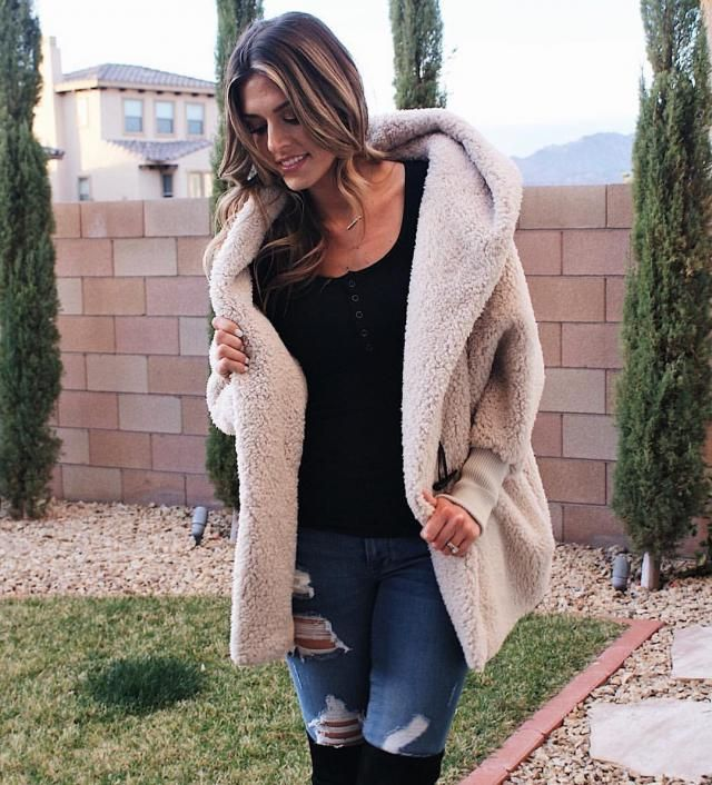 Oversized Fluffy Teddy Winter Coat