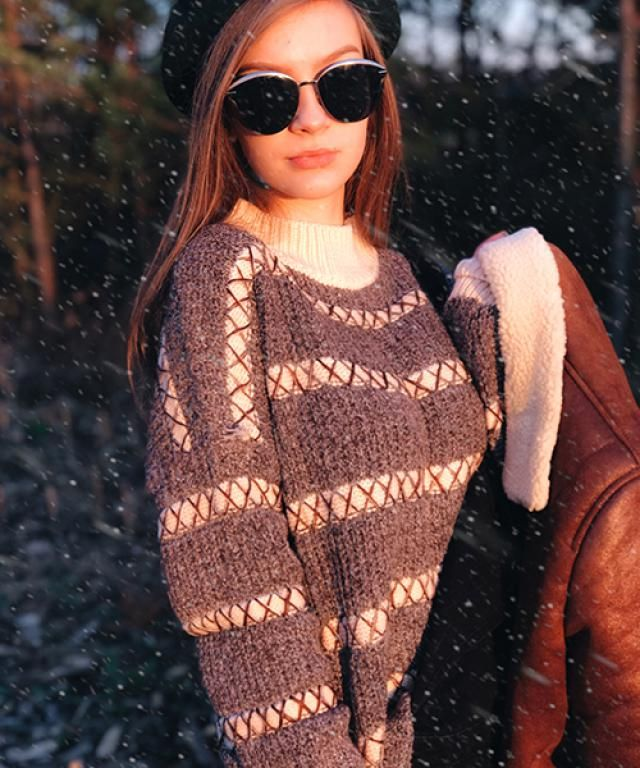 Sleeves Sweater Fit  Pullover Sweater Shouder Sweater Sweater#