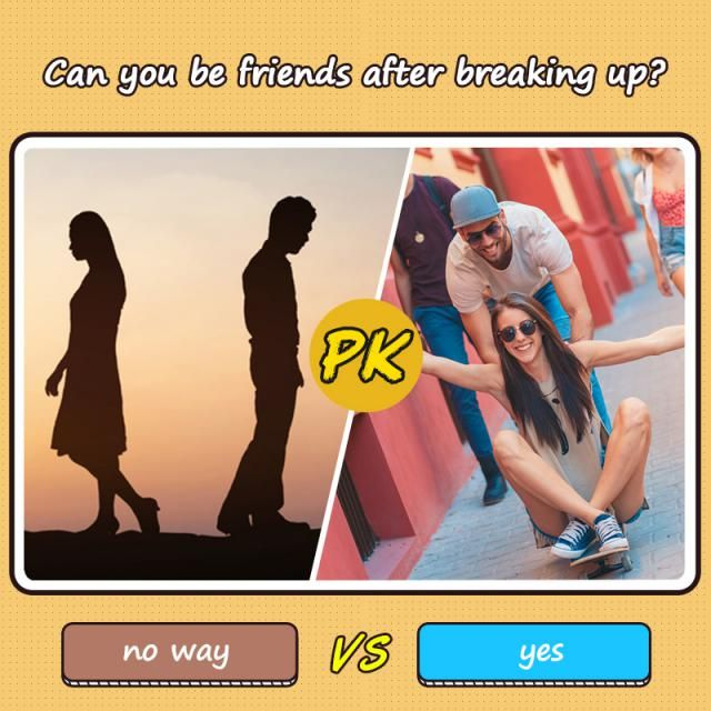 Can you be friends after breaking up?