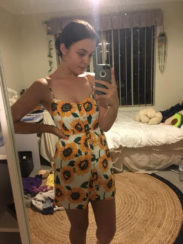 this dress has shorts underneath !! it's also double lined so it's not see through at all. i'm an australian size 8 an…