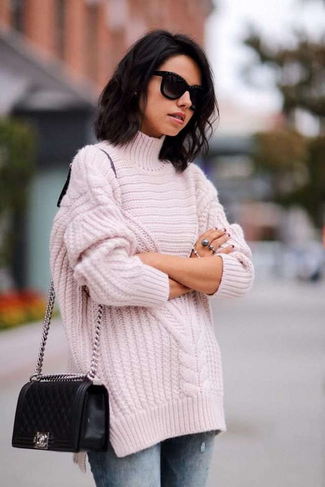 Turtleneck Sweater  Pink