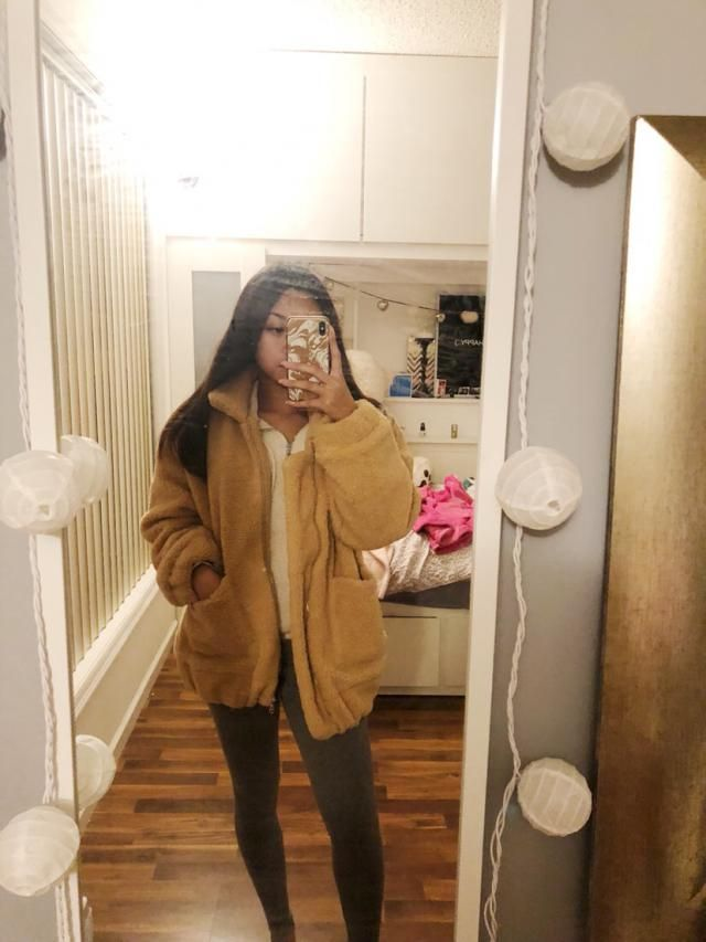 "Super cute! I'm 5'1"" and 100 lbs and it hits just under my butt. Oversized fit for me but I love it!"