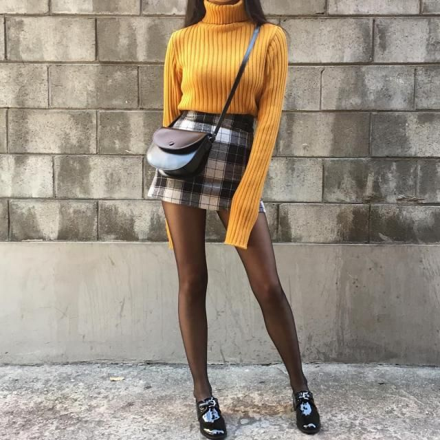 Checked Pelmet Mini Skirt 