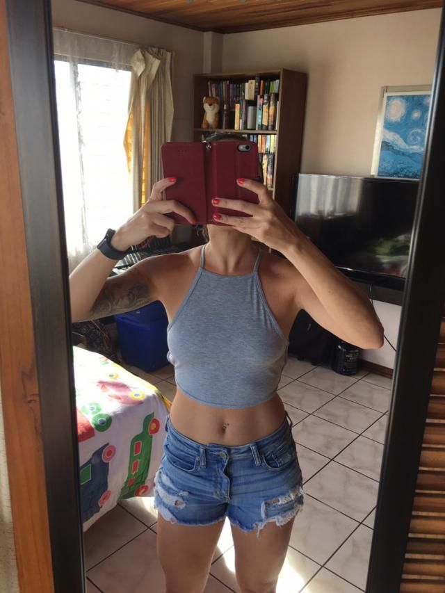 Would size up one but because I personally don't like crop tops this short. Otherwise, it's really comfy and light. An…