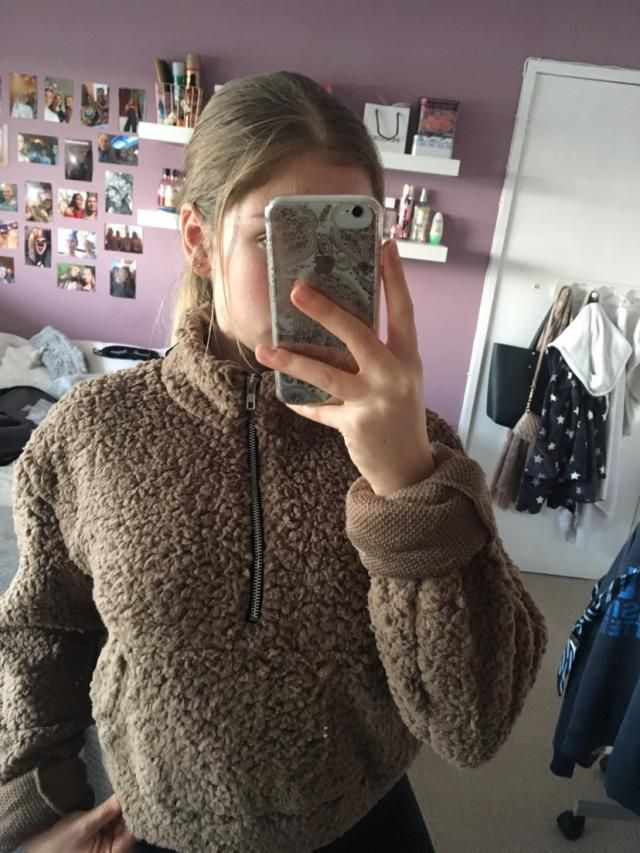 Love this!! It's super fluffy and warm!! I got a medium which fits really well except the sleeves are too long so I ha…