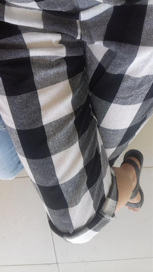 Estava anciosa por esta calça ela realmente e linda. O tamanho M ficou grande no comprimento mas na largura ficou Boa …