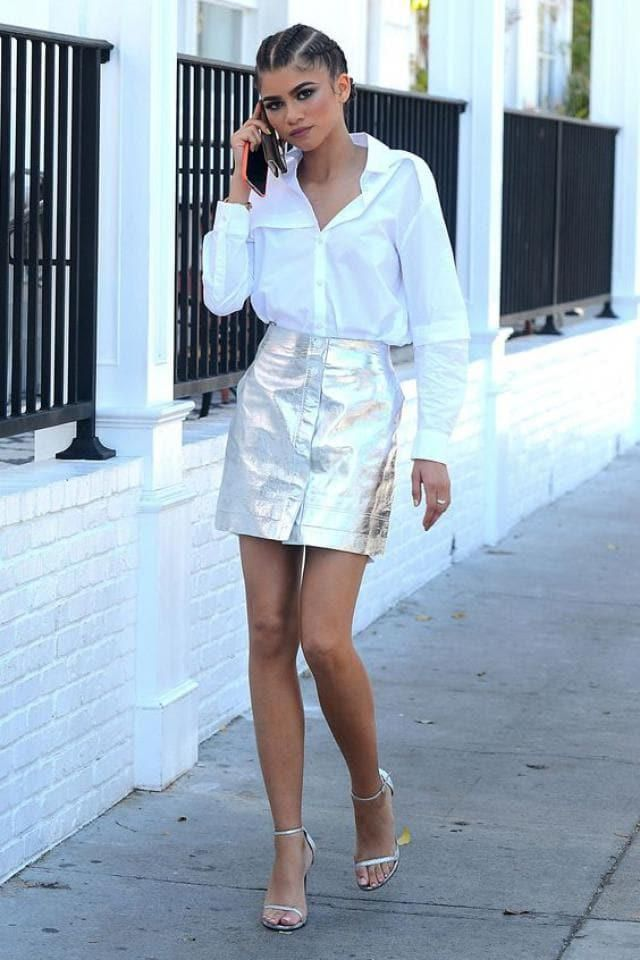 The Zendaya style is one of the best in hollywood. Get the same metal skirt that Zendaya has, you will only get it here…