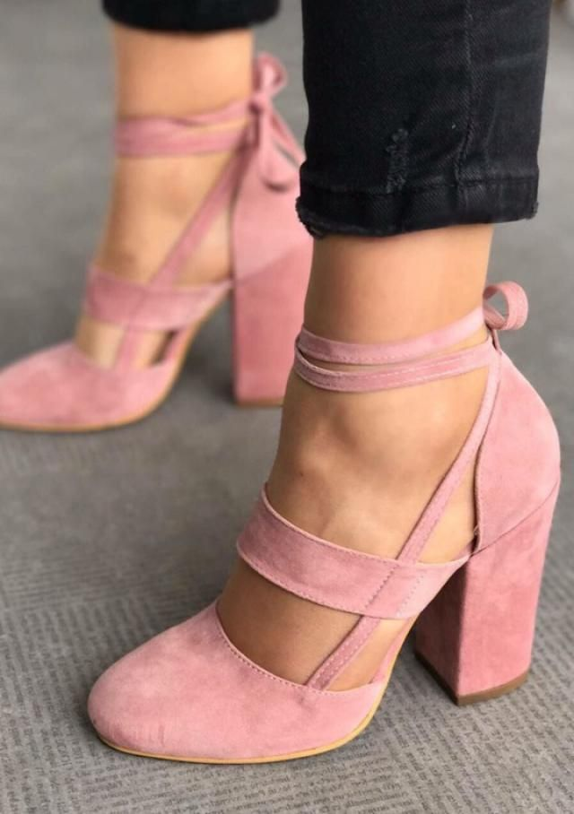 Ankle Strap Party Peep Toe Sandals Light Pink 
