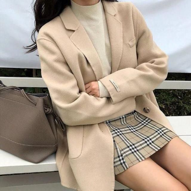 Winter is here, so get ready with the best and the most beautiful outfits! This beautiful beige coat with this turtlene…