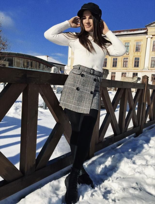 The material is fantastic, perfect for winter or autumn, so warm and cozy, and super cute. I'm not wearing skirts ofte…
