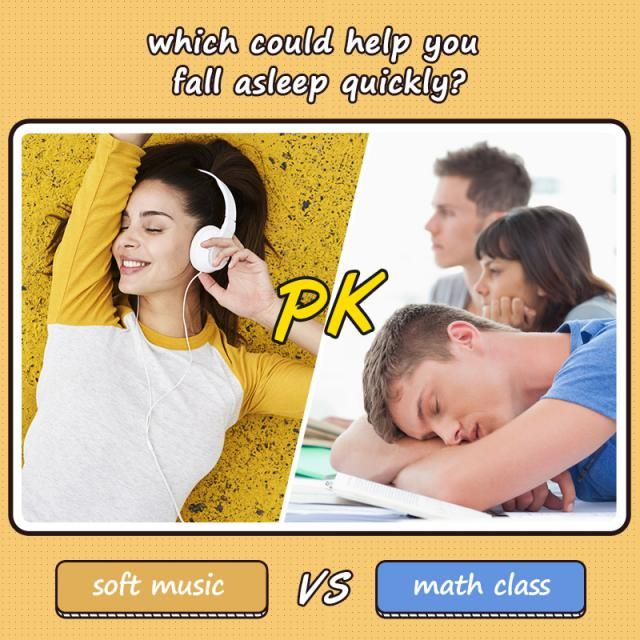 Which could help you fall asleep quickly?