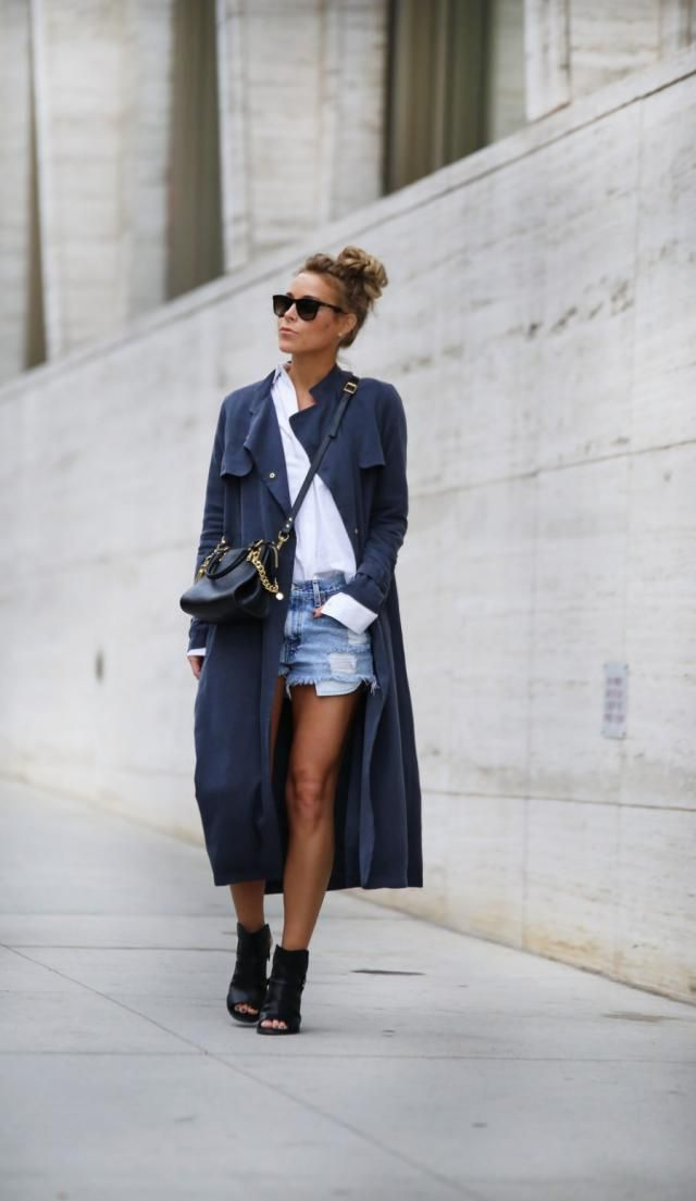 ZAFUL Denim Shorts  Jeans Blue 